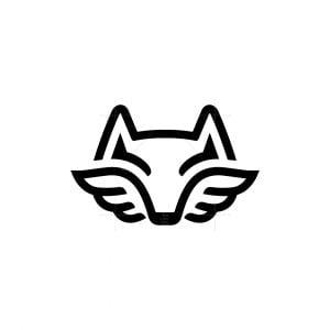 Winged Fox Head Logo
