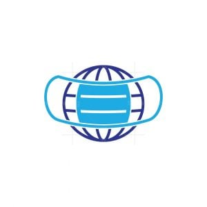 World Pandemic Mask Logo