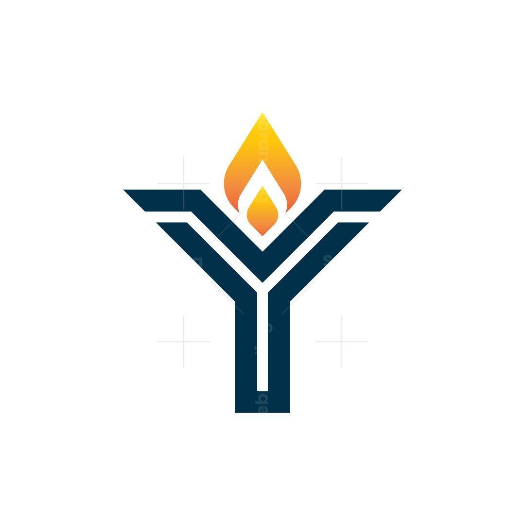 Letter Y Torch Logo
