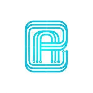 Modern A Ae Tech Logo