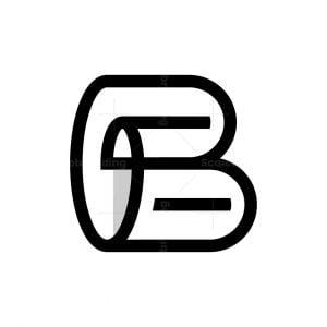 Letter B Roll Paper Monogram Logo