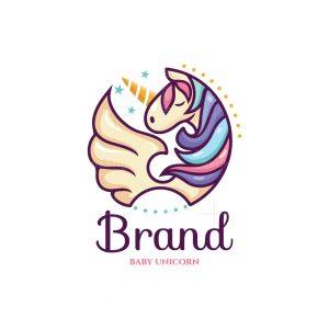 Baby Unicorn Character Logo