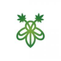 Hemp Cannabis Bee Logo