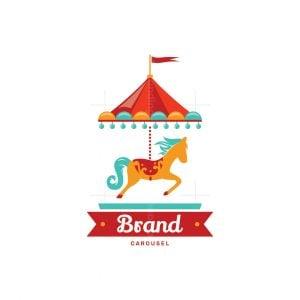 Carousel Horse Pictorial Logo