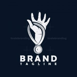 Hand And Medal Logo
