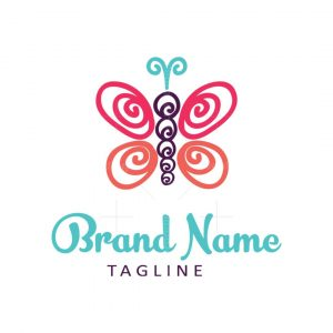 Colourful Butterfly Logo