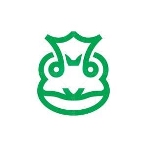 Royal Frog Logo Crown Frog Head Logo