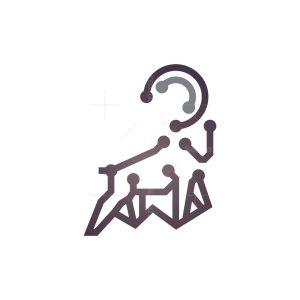 Technology Goat Logo Cyber Ram Logo