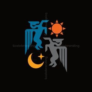 Sun And Moon Pegasus Logo