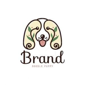 Doodle Puppy Floral Logo