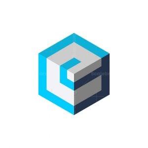 Modern E Cube Tech Logo