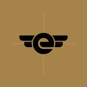 Modern E And Wing Logo
