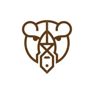 Fish Bear Head Logo