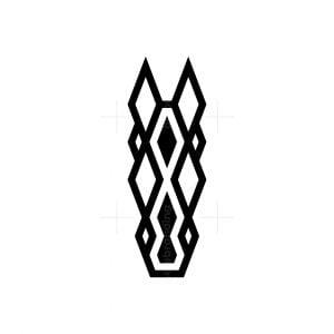 Geometric Horse Head Logo