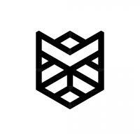 Geometry Head Bulldog Logo