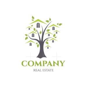 Green Compound Real Estate Symbol Logo