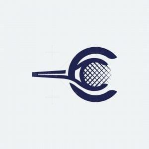 Letter C Tennis Logo
