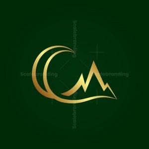 Letter C Mountains Logo