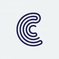 Letter C Lines Logo