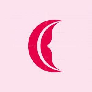 Letter C Lips Logo