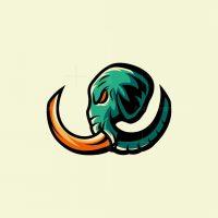 Elephant Sport Mascot Logo