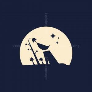 Night Floral Dog Logo