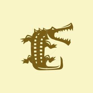Abstract Crocodile Logo
