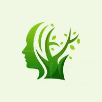 Head Tree Nature Logo