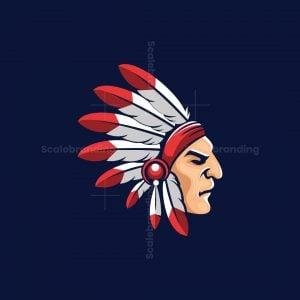 Indian Apache Illustration Logo