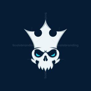 King Skull Silhouette Logo