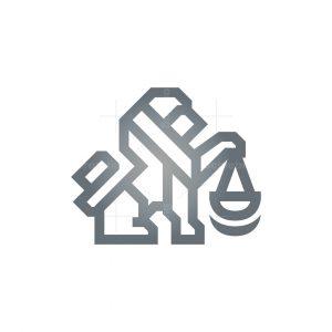 Legal Law Lion Logo