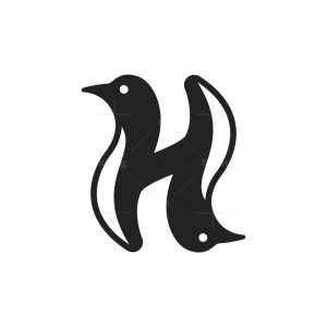 Letter H Penguins Logo
