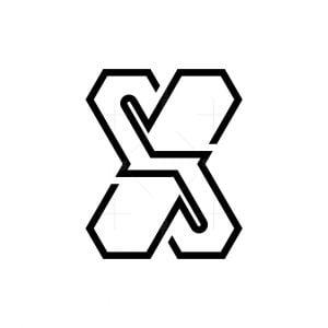 Xs Sx Letter Logo