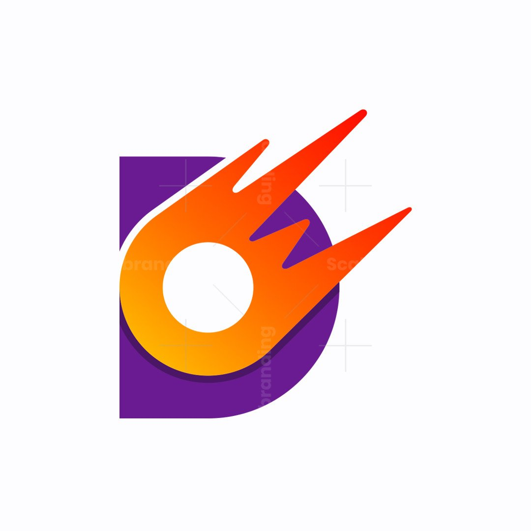 Logo Letter D And Comet