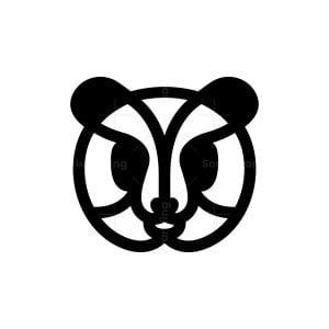 Lines Panda Head Logo Panda Logo