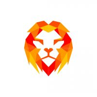 Lion Geometric Colorful Logo