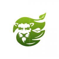 Lion Leaf Nature Logo