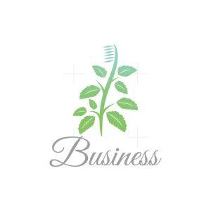 Mint Brush Symbol Logo