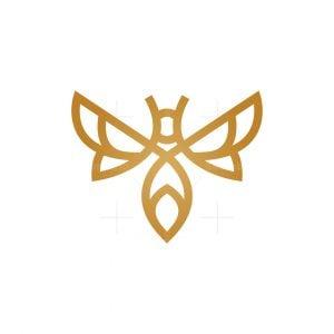 Modern Golden Bee Logo