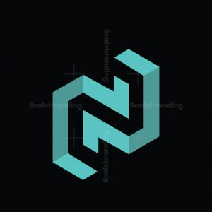 N 3d Geometric Logo