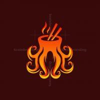 Octopus Meal Food Logo
