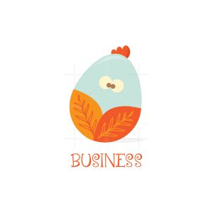 Organic Egg Character Logo