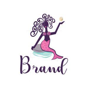 Pink Mermaid Logo