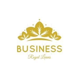 Royal Crown Leaves Logo