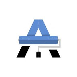 Letter A Paint Logo
