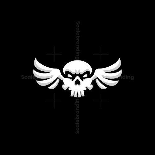Skull Fly Winged Logo