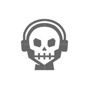 Skull With Headphone Logo