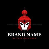 Skull Spartan Logo