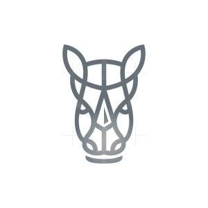 Spear Rhino Head Logo Rhino Logo