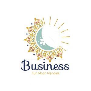 Sun Moon Mandala Logo